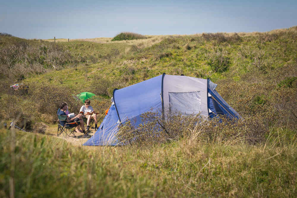 Camping Kogerstrand, dune spot with electricity