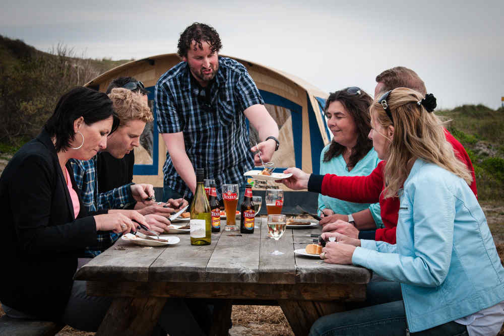 Camping Kogerstrand, barbecue op locatie