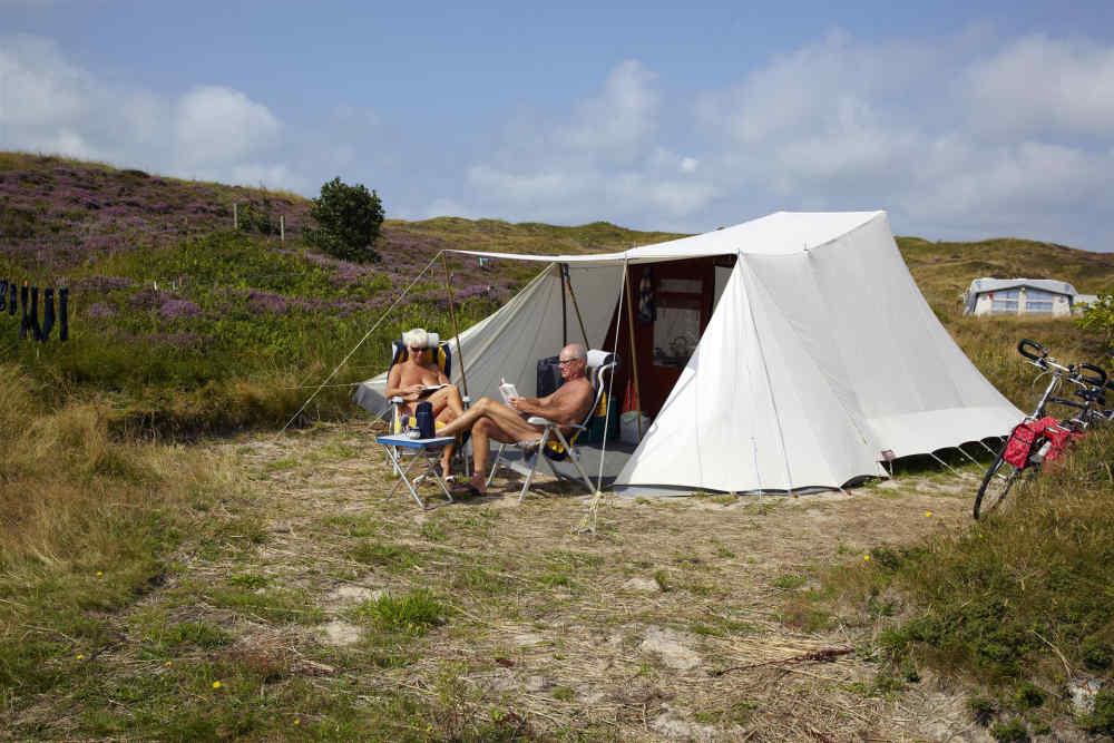 Camping Loodsmansduin, Stellplatz FKK gelände