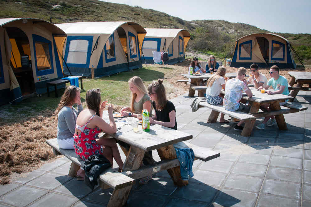 Camping Kogerstrand, furnished grouptents