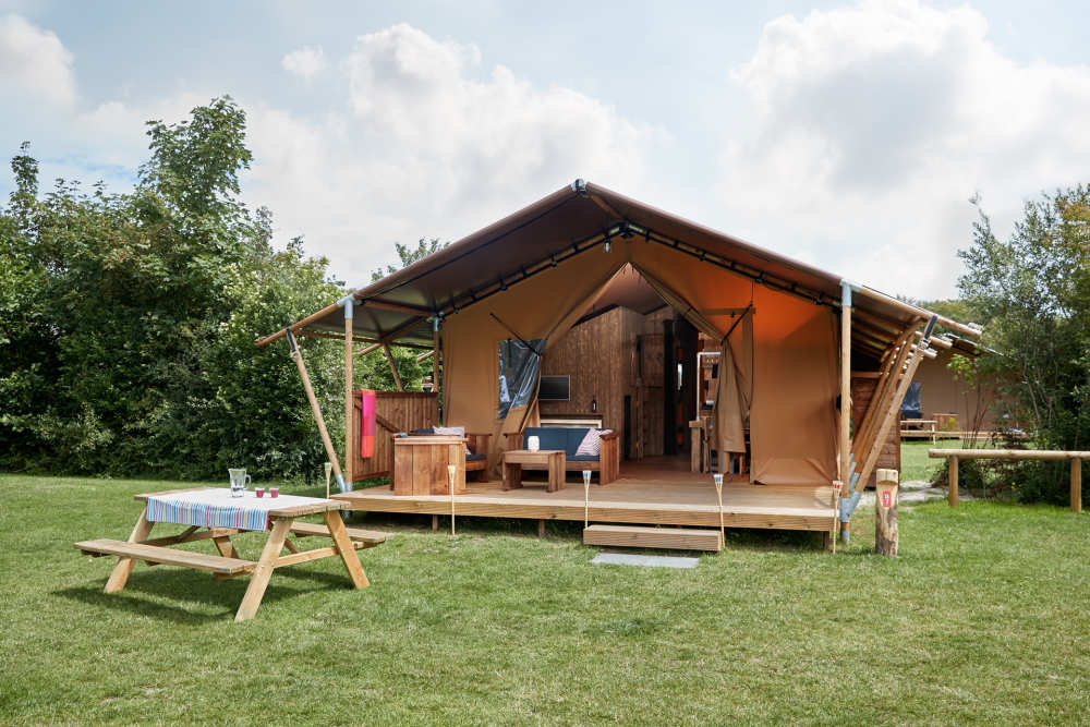 Luxe Safari Lodge op Camping De Krim