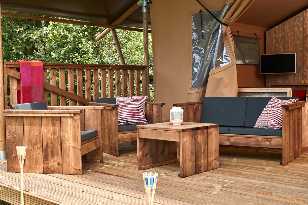 Safari Lodge op Camping De Krim
