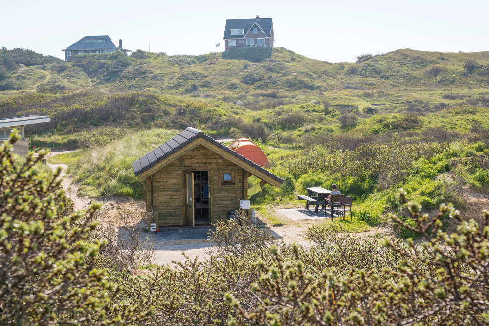 Wanderhütte auf Camping Kogerstrand