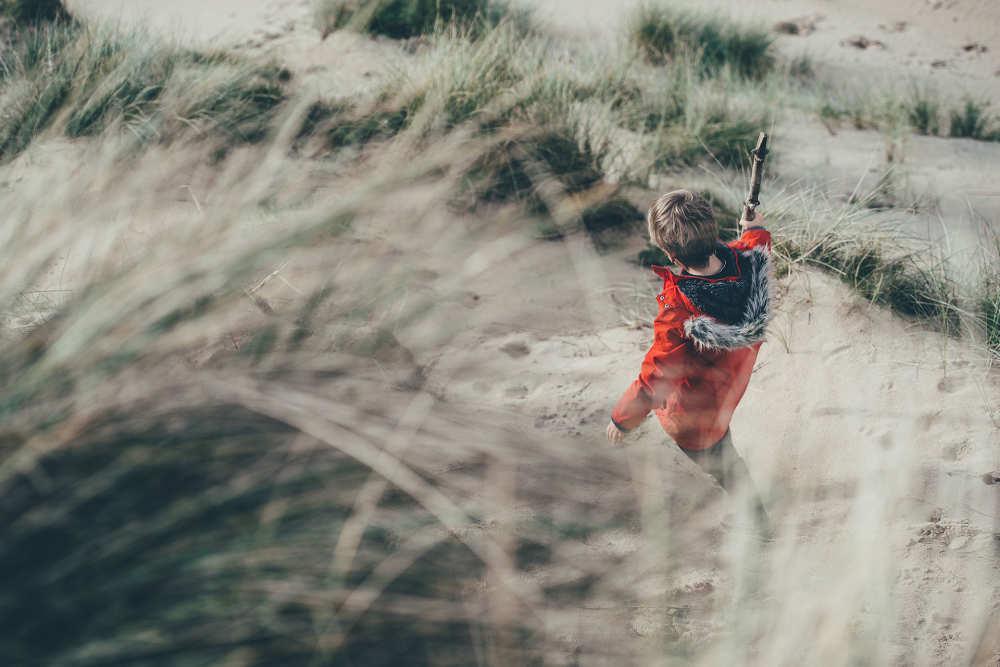 Wandelen over de duinen