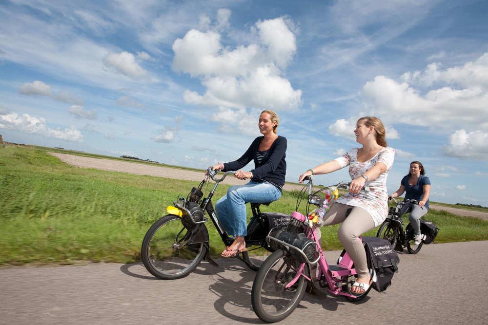 Solex rijden over Texel