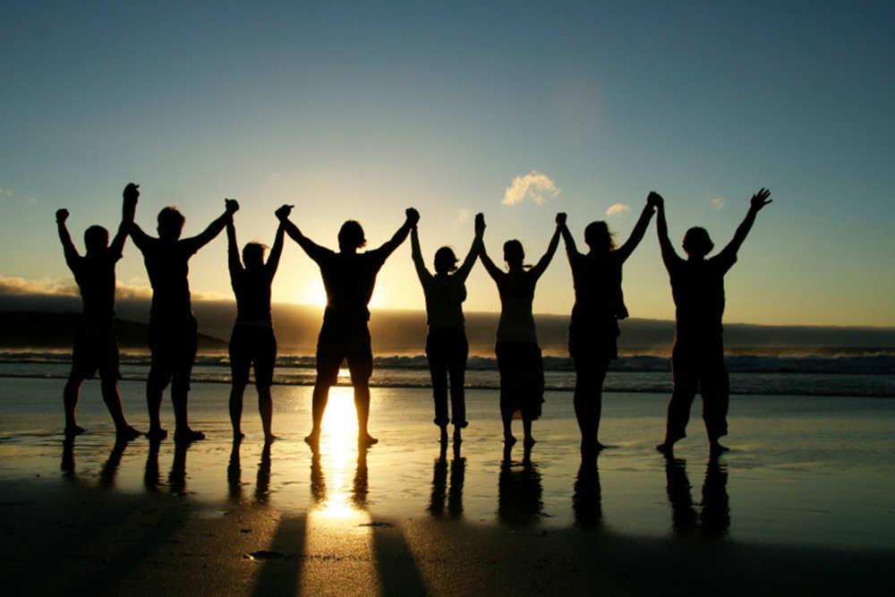 Teambuilding, strandwandeling