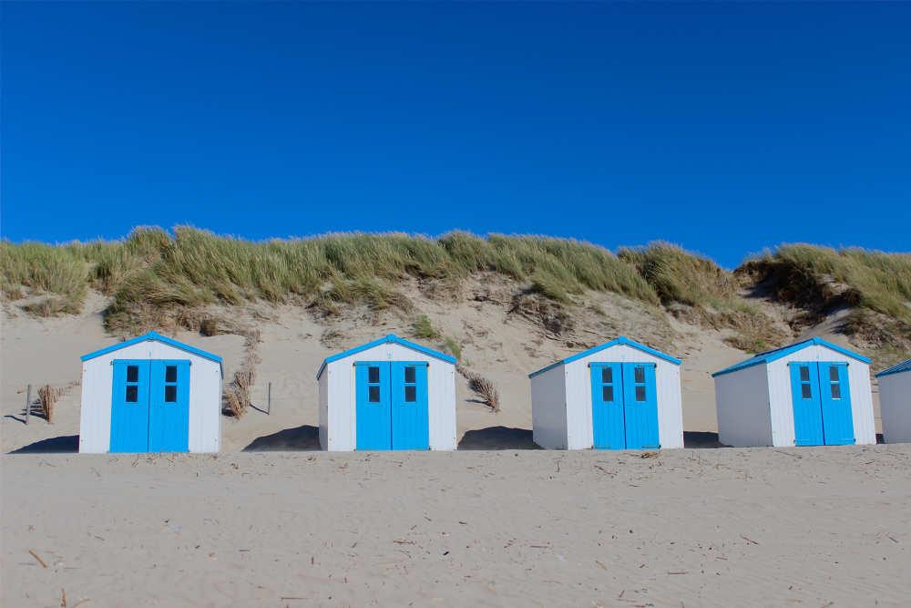 Strand, strandhuisjes