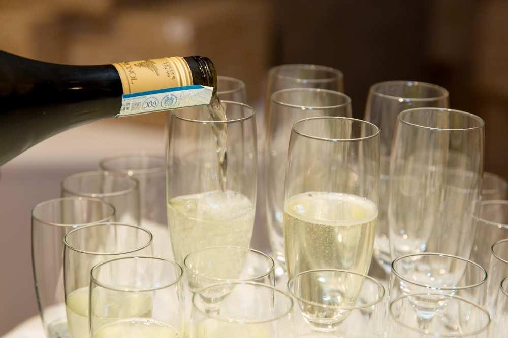 Evenementenhal Texel, champagne