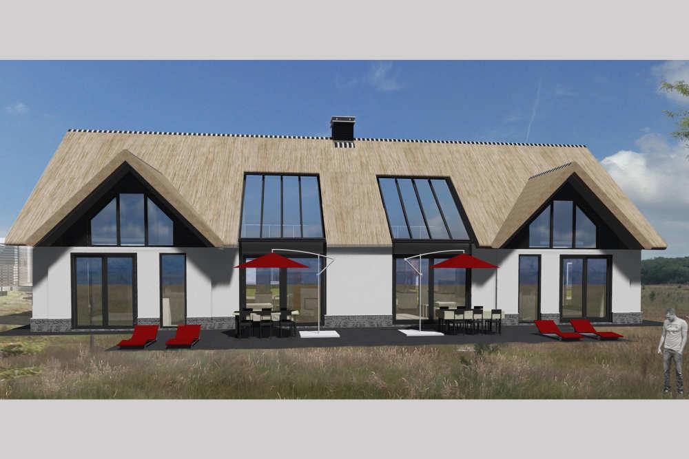 Villapark De Koog, villa rieten dak 6 P./12 P.