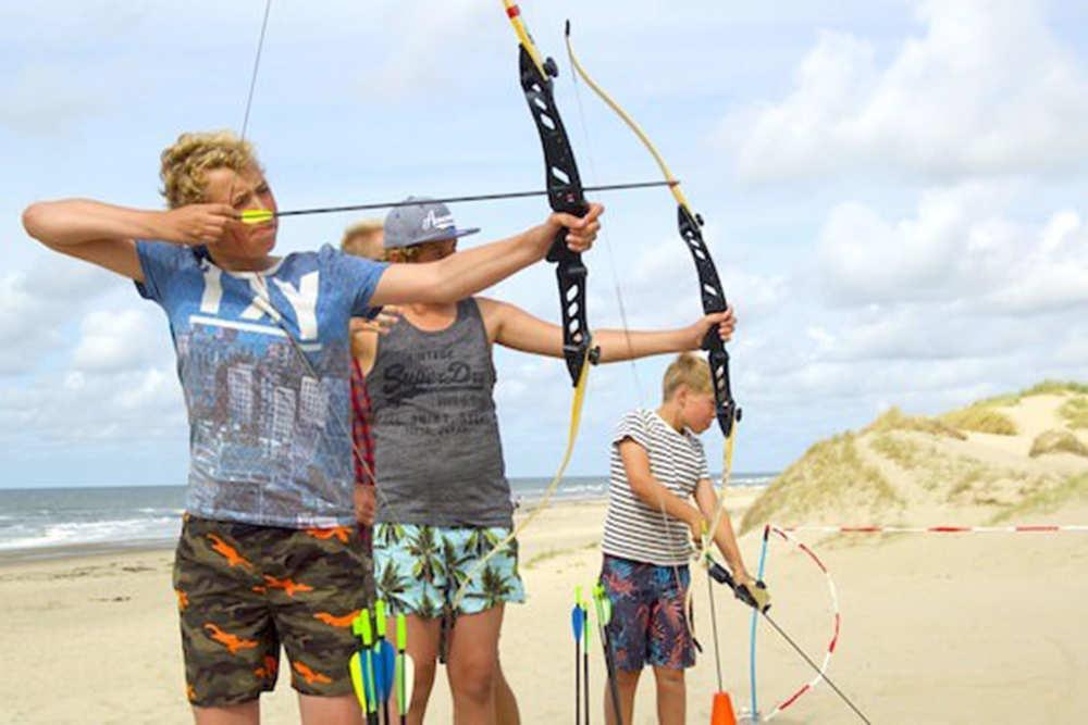 Beach Camps Texel, boogschieten