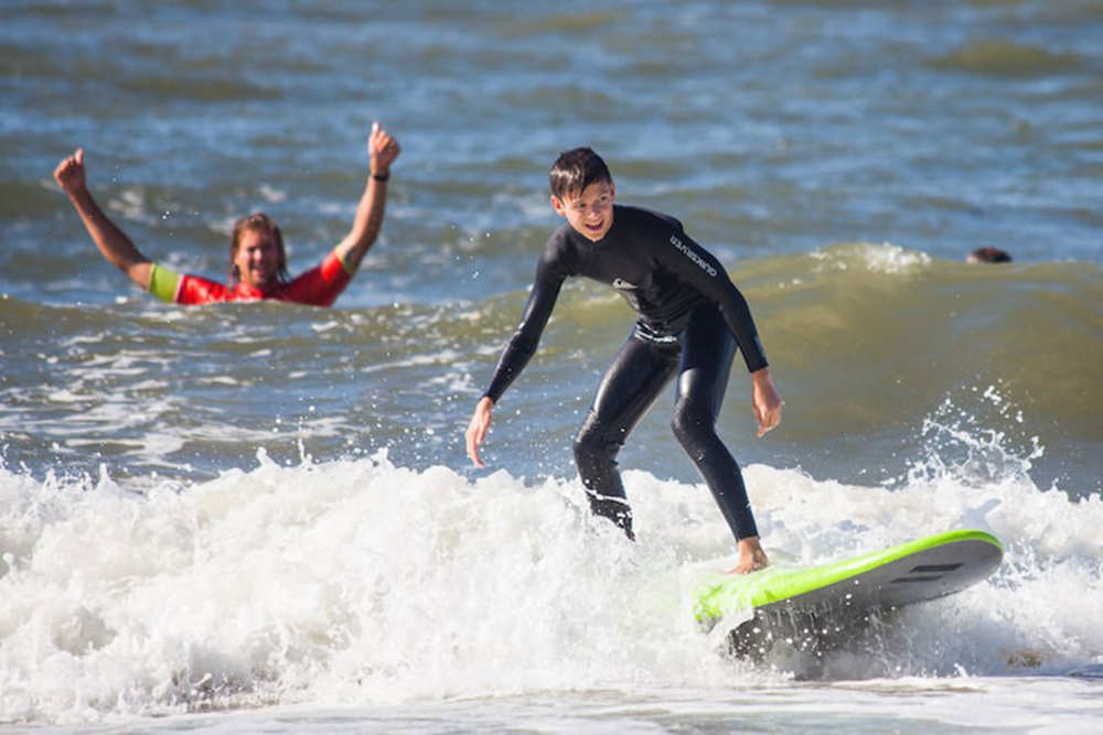 Beach Camps Texel, golfsurfen