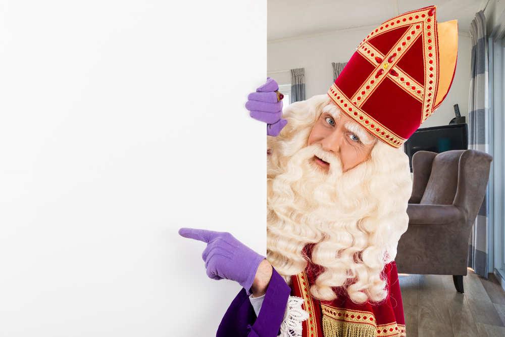 Sinterklaas on a visit