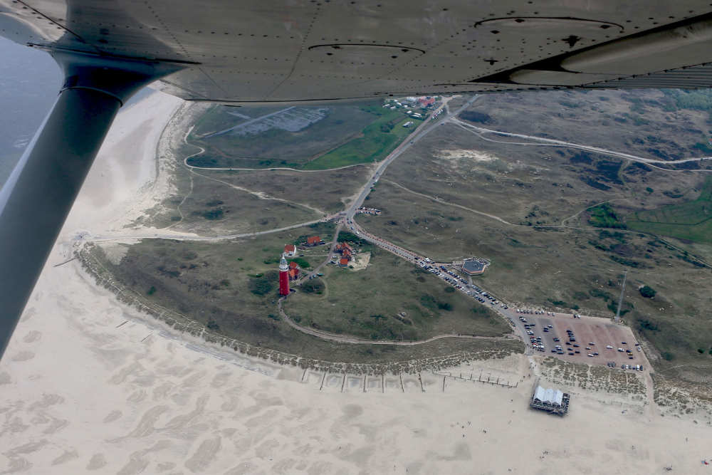 Flight above the lighthouse