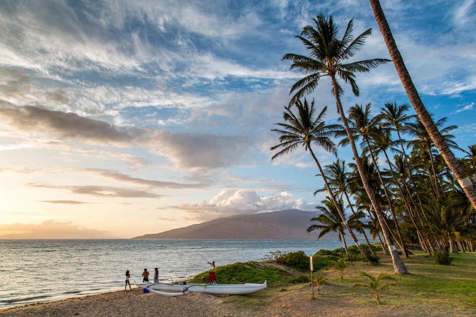 Maui Canoe at Sunset