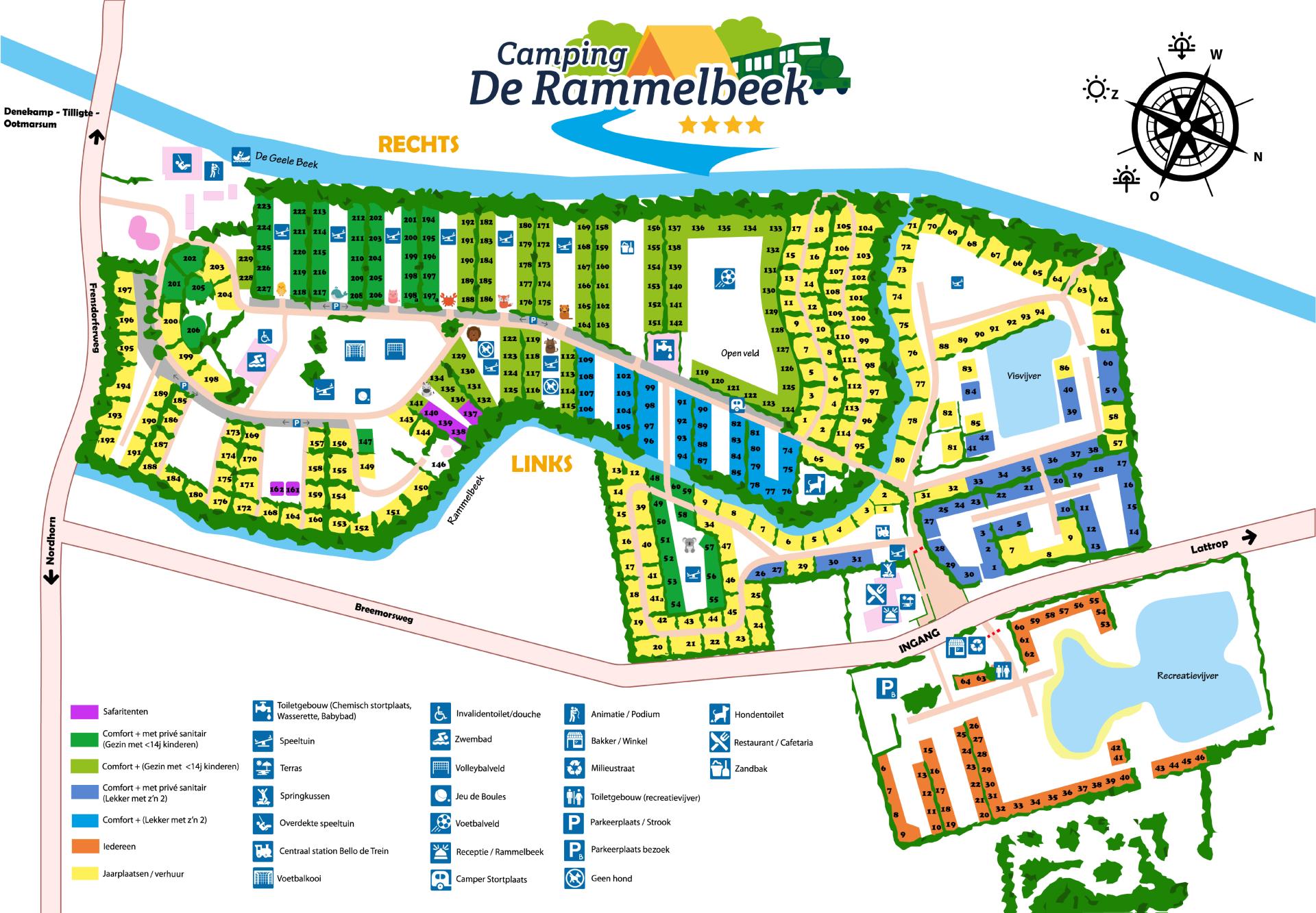 Plattegrond Camping de Rammelbeek
