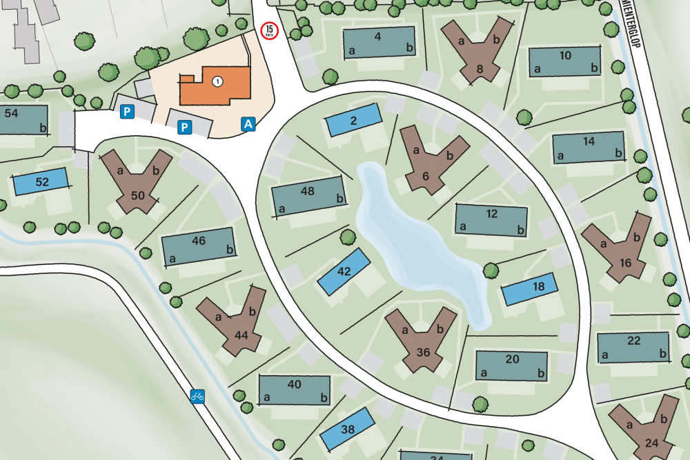 Villen Park De Koog, eindruk Villen 6 P.