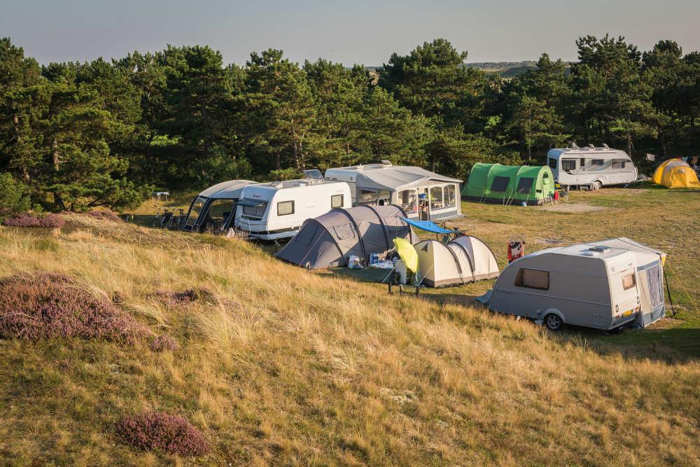 Camping Loodsmansduin, Zelten in den Dünen
