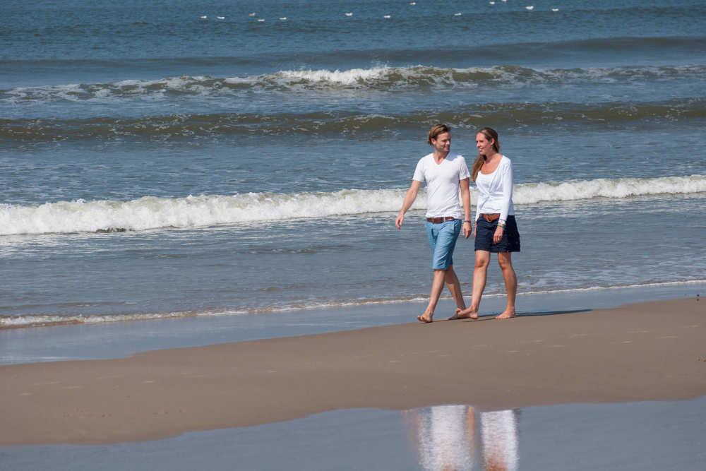 Strand, Wanderung