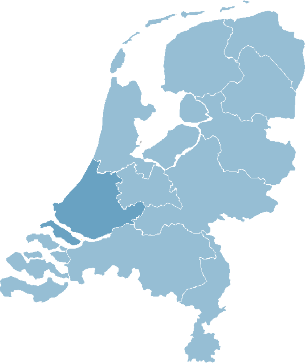 map-zuid-holland