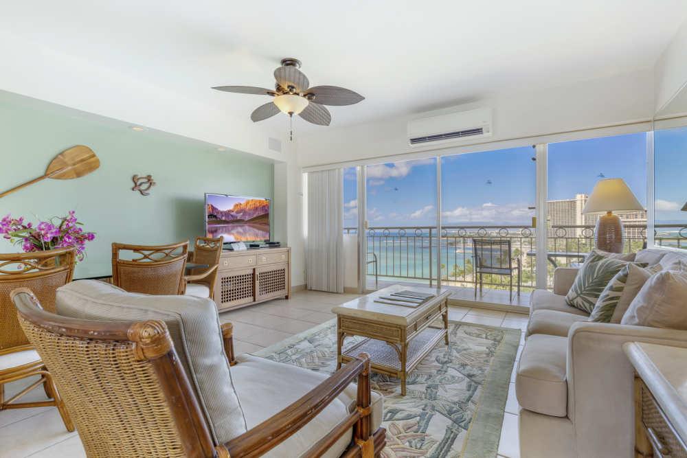 Vacation Rental at Waikiki Shore managed by Castle Vacation Rentals Hawaii.
