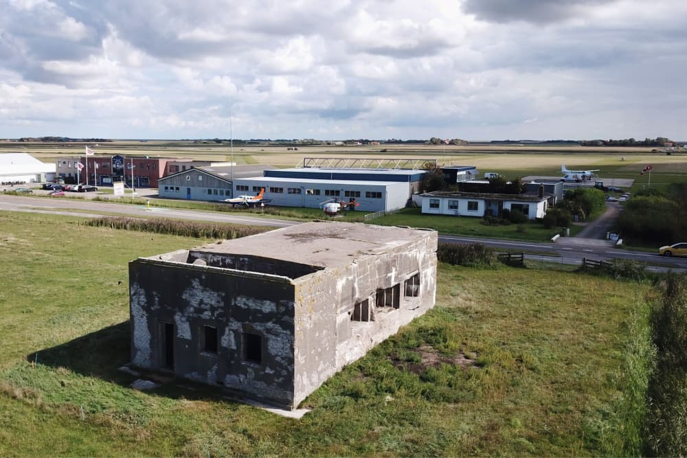 Luchtfoto bunker, Ton Zegers