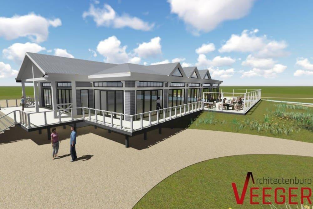 Impressie clubhuis, Golfbaan de Texelse