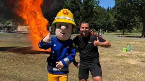 1.  Juni 2019 - Feuertag mit Feuerwehrmann Sam