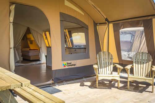 Eingerichtetes Zelt auf Texel mieten bei De Krim | Texel