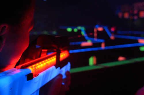 Indoor Lasergame auf Camping De Krim