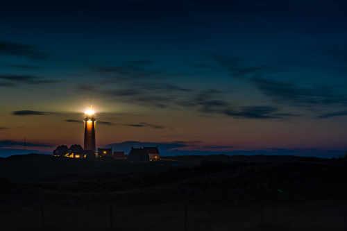 Evening opening lighthouse