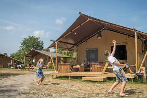 Safarizelt auf Camping De Krim
