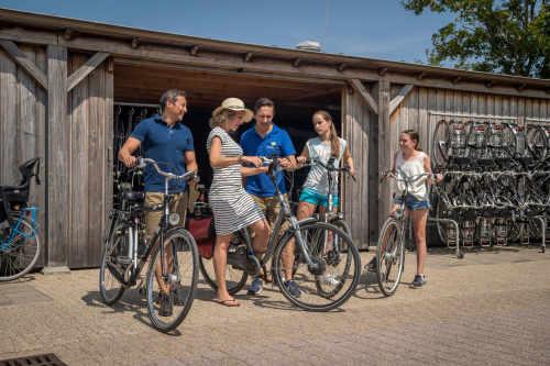 Fahrradverleih auf Camping De Krim