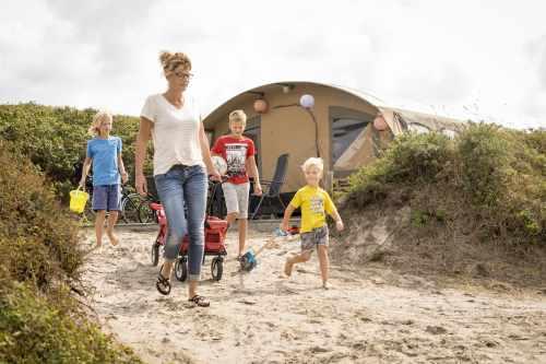 Camping Kogerstrand, ingerichte tenten