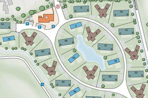 Villapark De Koog, uitsnede plattegrond