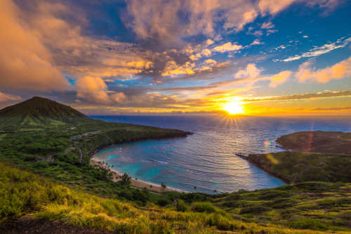 hanauma bay sunset