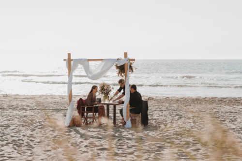 Romantische picknick op Texel