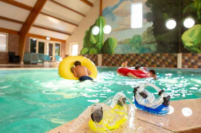 Holiday park with subtropical swimming pool Villapark de Weerribben