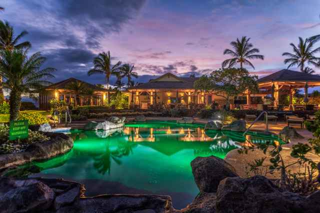 image: halii kai resort pool at night