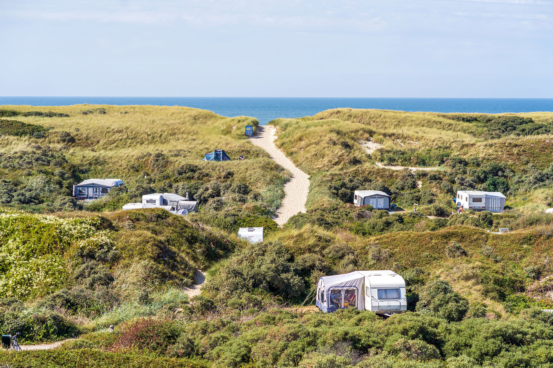 Campsite Kogerstrand: Camping in the dunes of De Koog Texel