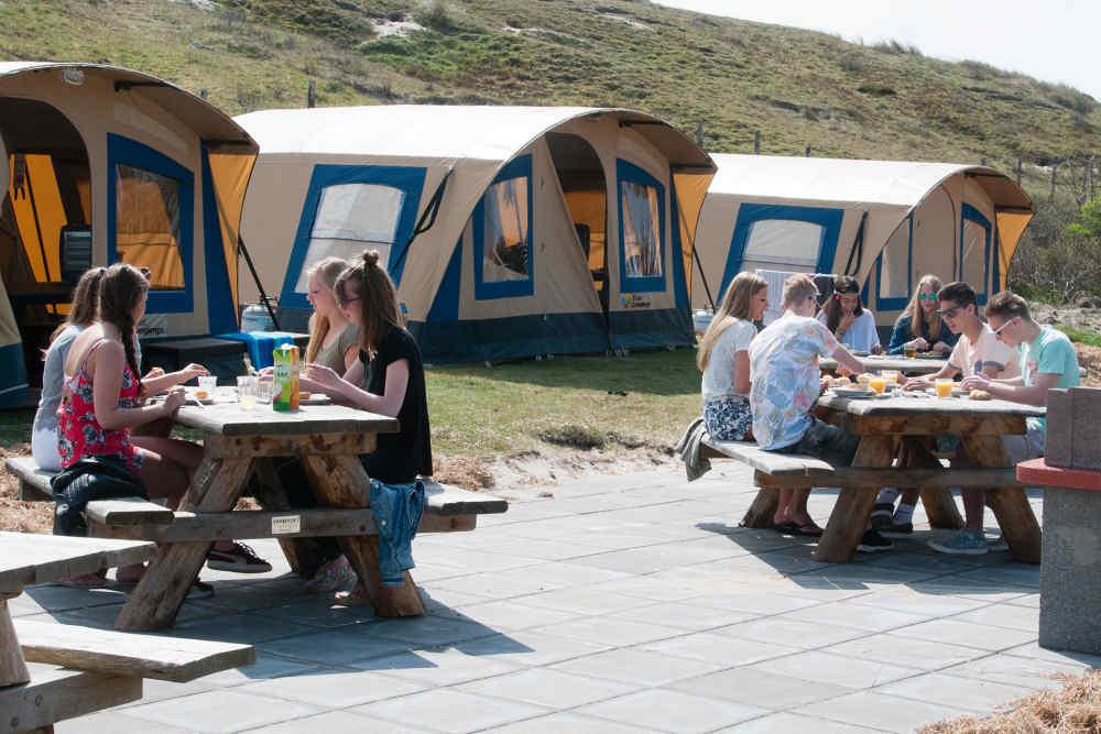 Camping Kogerstrand, ingerichte tenten voor groepen