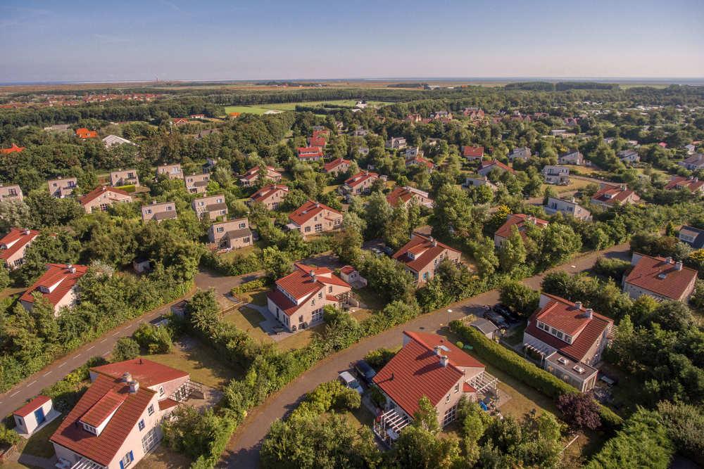 Vakantiepark De Krim, luchtfoto bungalows