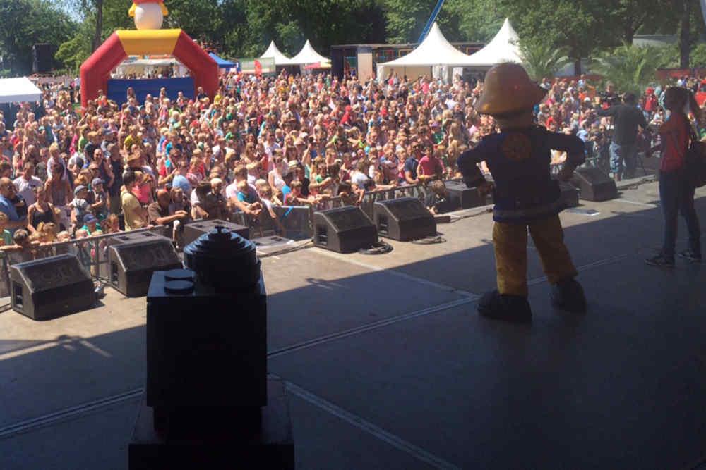 Evenementenhal Texel, kindershow Brandweerman Sam