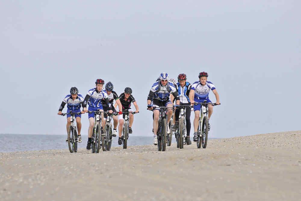 Strand, 100 km MTB-route