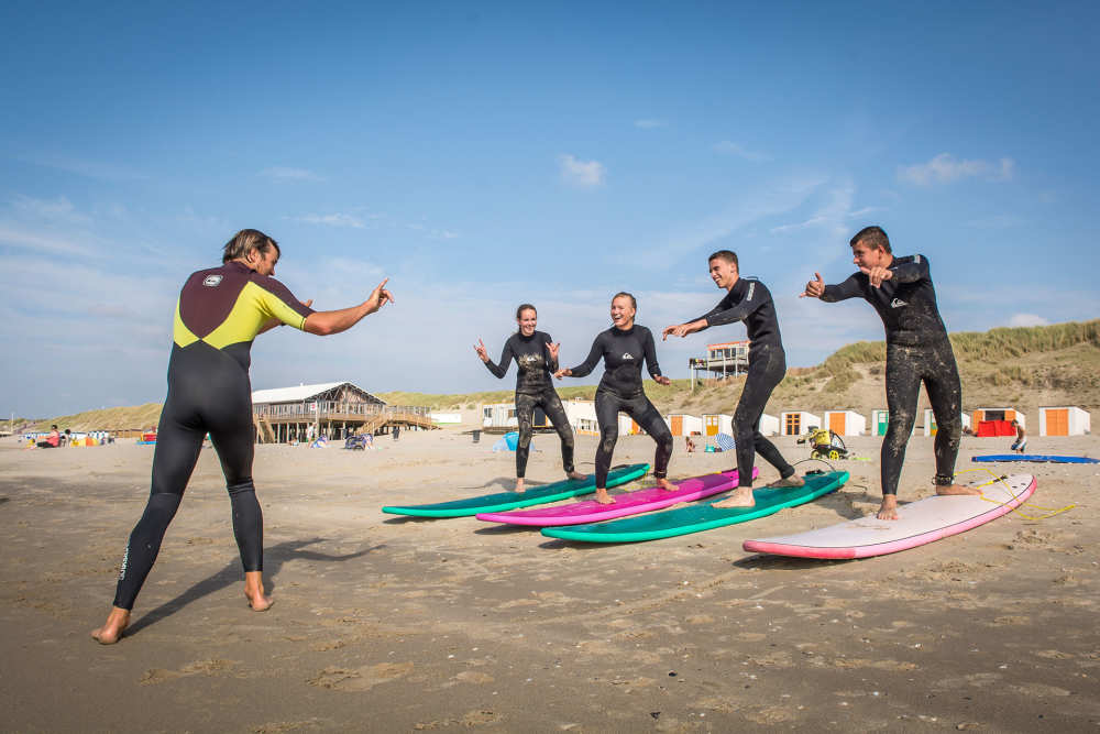De Koog, Surfunterricht Surfschule Foamball