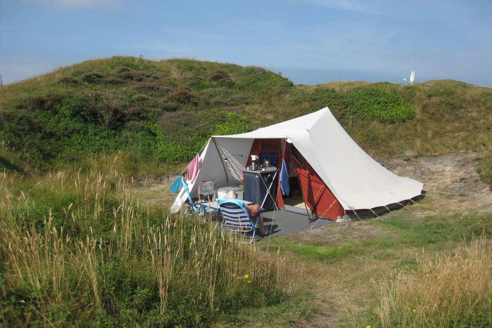 Kampeerplaats op Camping Kogerstrand