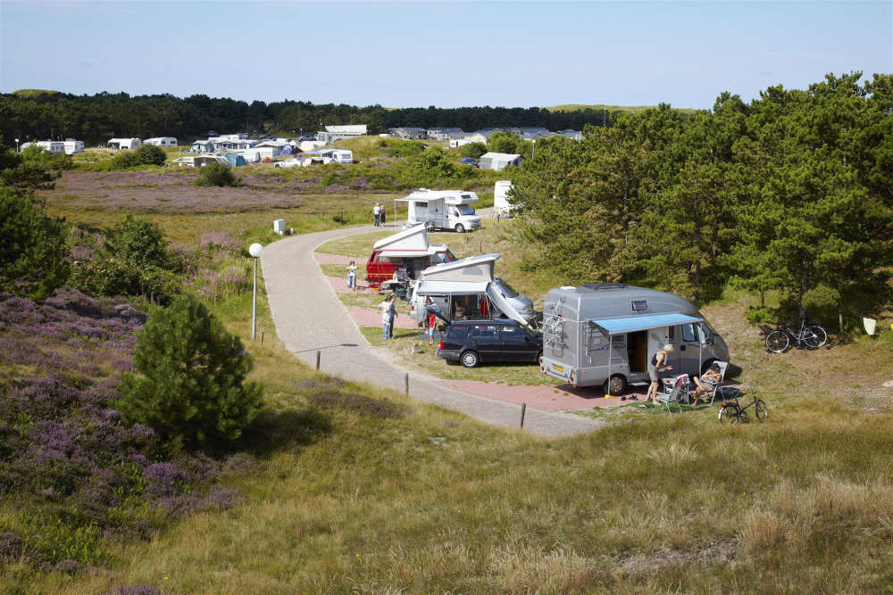 Camping Loodsmansduin, camper pitch with electricty