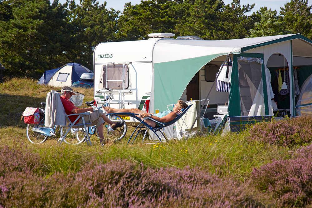 Kampeerplaatsen op Camping Loodsmansduin