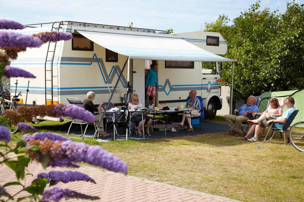 Camping De Shelter, Stellplatz
