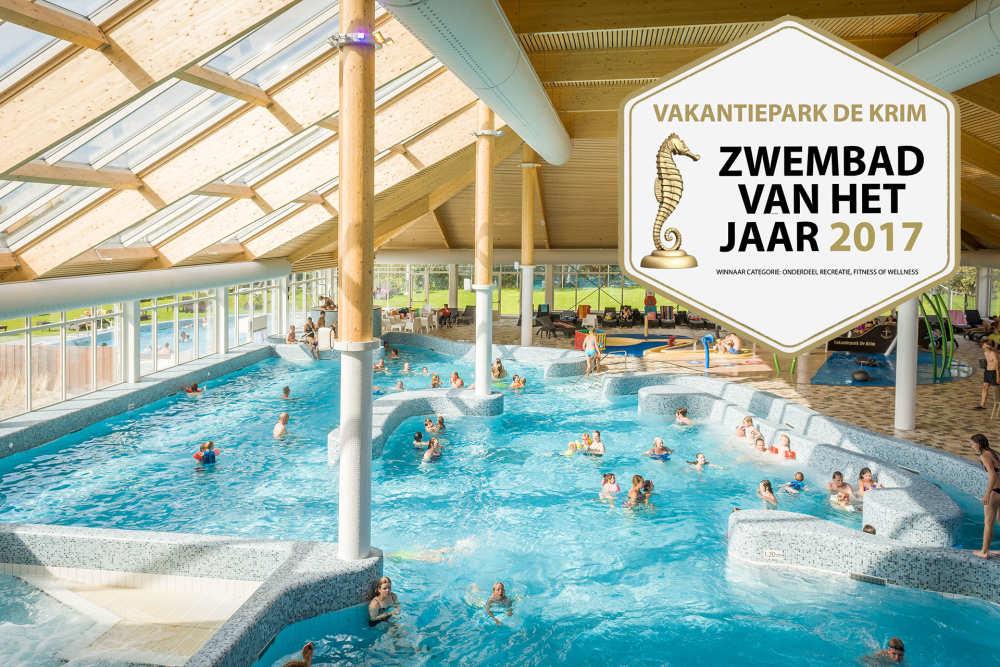 Vakantiepark De Krim, winnaar zwembad award 2017