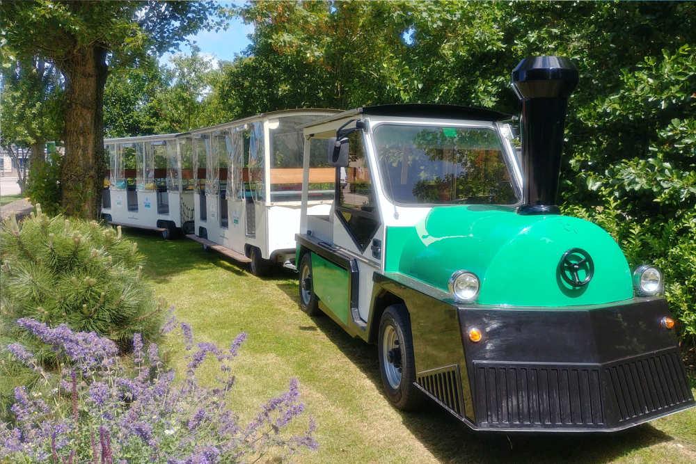 Zug Texel auf Vakantiepark De Krim, Urlaub Spass